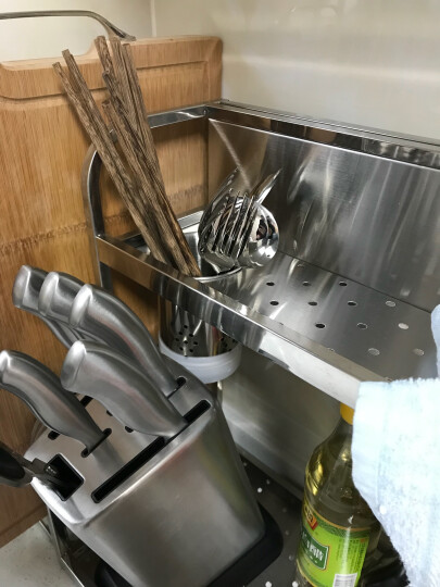 苏泊尔(SUPOR) 苏泊尔不锈钢火锅勺加厚汤勺漏勺长柄盛汤勺 二件套升级版 晒单图