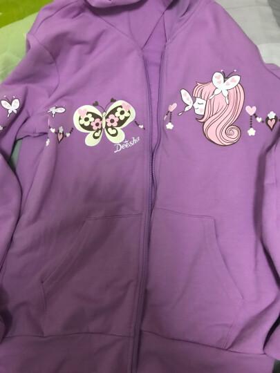 笛莎女童儿童套装春秋款时尚两件套连帽外套打底裙裤711660904粉紫160 晒单图