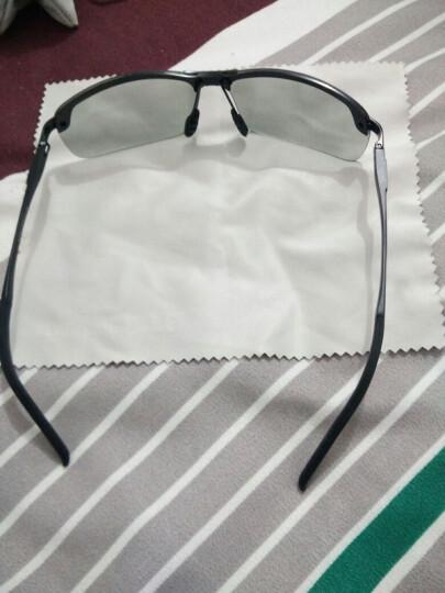 亚热带新款变色偏光太阳镜墨镜男司机驾驶眼镜蛤蟆镜 黑框变色(变色版) 晒单图