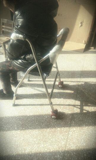 冀恒康 老人助行器 带轮 带座 老年人助步器学步车 助行架可折叠 助行器带轮带座格子 晒单图