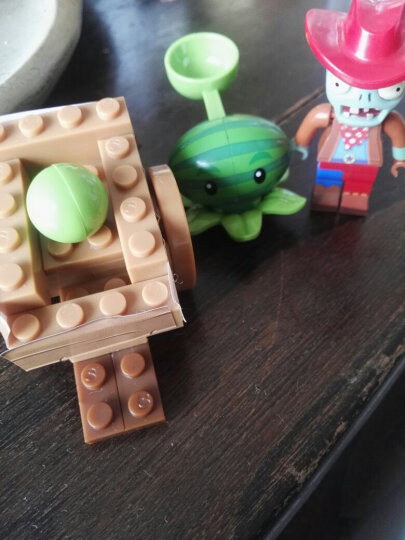 潮昇动漫 植物大战僵尸玩具塑料拼装拼插积木发射益智男生女孩儿童玩具 吸塑版-狂野西部 晒单图