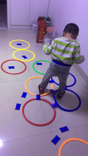 贝比谷 幼儿园室内游戏玩具感统训练器材跳格子儿童户外运动器械跳房子 大号10圈20卡扣+沙包+双肩背包 晒单图
