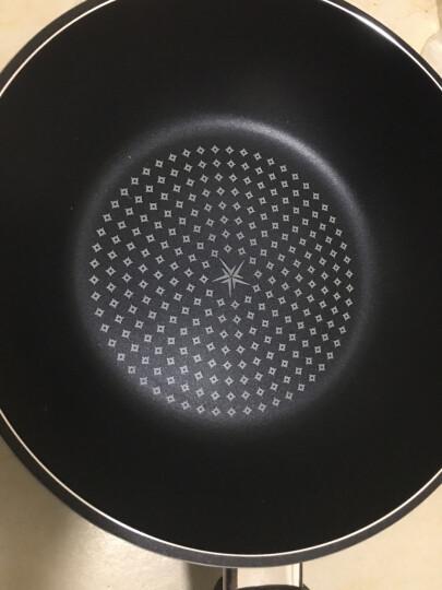 钻技(ZUANJ) 进口不粘锅 炒锅套组30CM少油烟不粘炒锅硅胶护锅铲套组燃气电磁灶通用ZJ-NW30+GJC304 晒单图