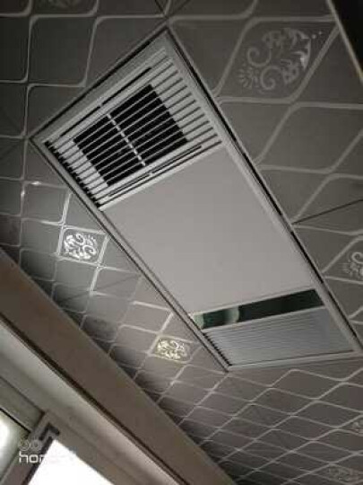 奥华科朗(AOUROO)风暖浴霸集成吊顶三合一多功能智能安全卫生间超薄暖风机LED灯照明一厨一卫套餐 金属银-按钮开关 晒单图