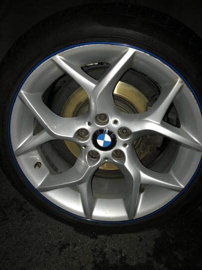 猛速 轮毂贴汽车轮毂改装饰贴车轮贴保护圈防撞条轮胎轮圈防擦防刮防蹭 绿色 黑底 晒单图