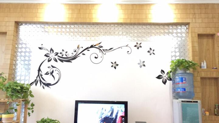 千羽 马赛克金属铝塑板自粘带背胶自贴电视墙背景墙贴瓷砖KTV装修室内客厅欧式风车三角 G款三角银黑间拼拉丝水钻 晒单图