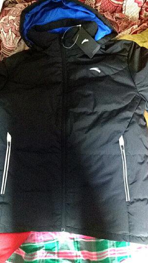 安踏男装 2017冬季新款男子羽绒服 连帽款保暖运动外套 厚款羽绒 基础黑-4 2XL/男185 晒单图