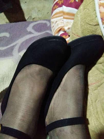 诗紊 新款单鞋高跟鞋粗跟休闲圆头一字绑带凉鞋工作女鞋 红色 39 晒单图