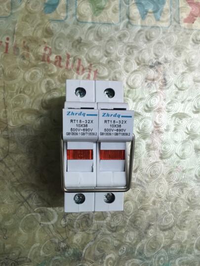 保险丝座RT18-32X 带指示灯保险丝熔断器底座10*38 RT18-32X 1芯 1P 晒单图