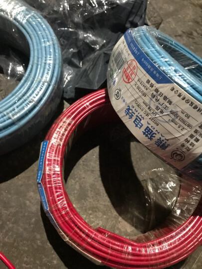 熊猫电线BV1.5平方电线电缆线铜线 照明线 单芯硬线 红色 100米绕包 晒单图