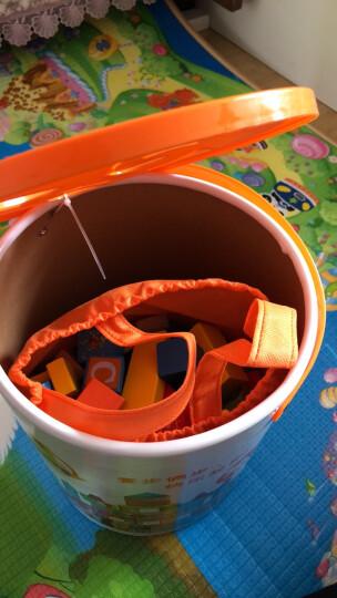 采石儿童木制积木玩具 木质木头拼插拼装大块颗粒168粒带数字字母 婴儿幼儿宝宝启蒙 128粒字母海洋 晒单图