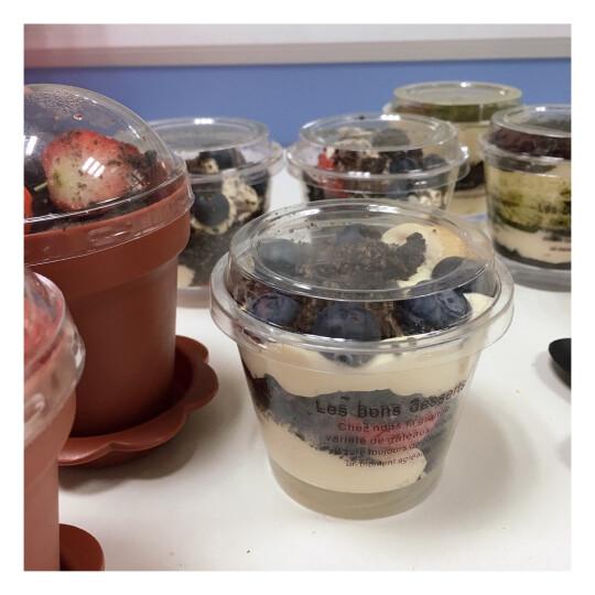展艺 烘焙模具 pp塑料带盖木糠杯 提拉米苏杯 布丁杯 木糠蛋糕 带盖15/40 咖啡色字母 晒单图