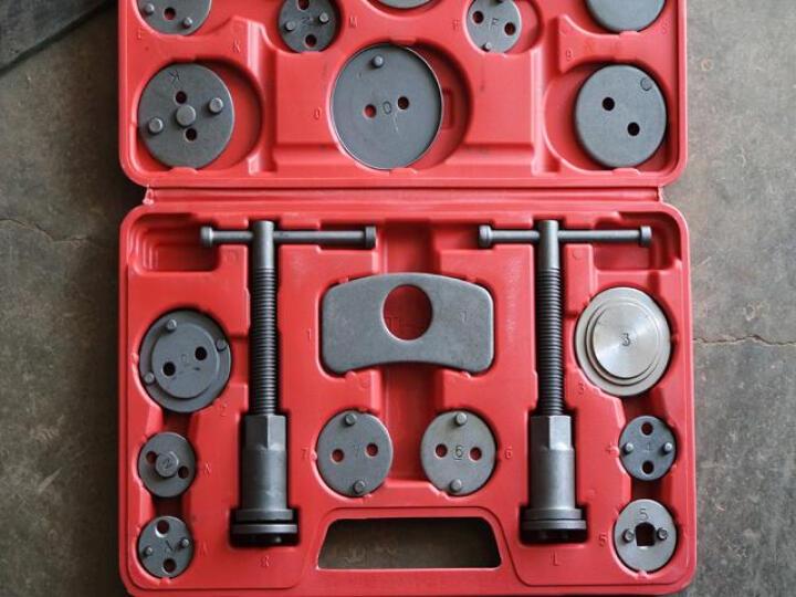碟式刹车分泵调整组/刹车片拆装工具/碟式刹车分泵工具汽车维修工具 21件组套 晒单图