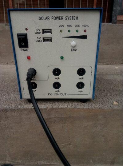 家用12V太阳能发电机系统全套小型光伏电池板户外多功能移动电源夜市鱼排灯手机USB风扇 40W  12A 晒单图