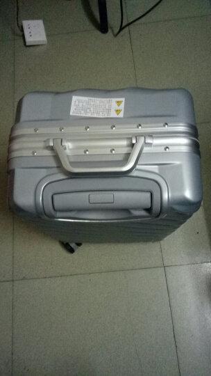?新款旅行箱拉链铝框拉杆箱20寸学生行李箱20寸箱子旅行箱万向轮密码箱登机箱 宝蓝色-拉链款 20寸丨登机箱 晒单图