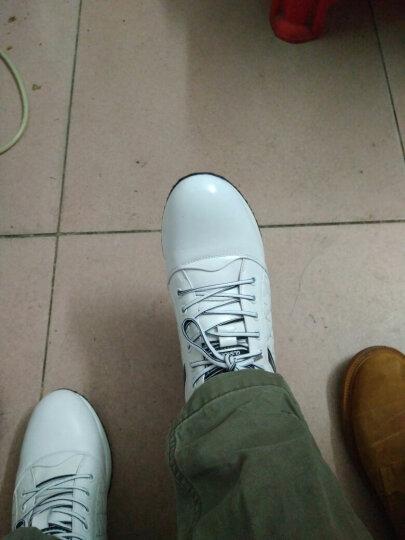 高尼增高鞋男6cm 男士透气内增高男鞋8CM 舒适男士运动休闲皮鞋 小白鞋6cm 41 晒单图