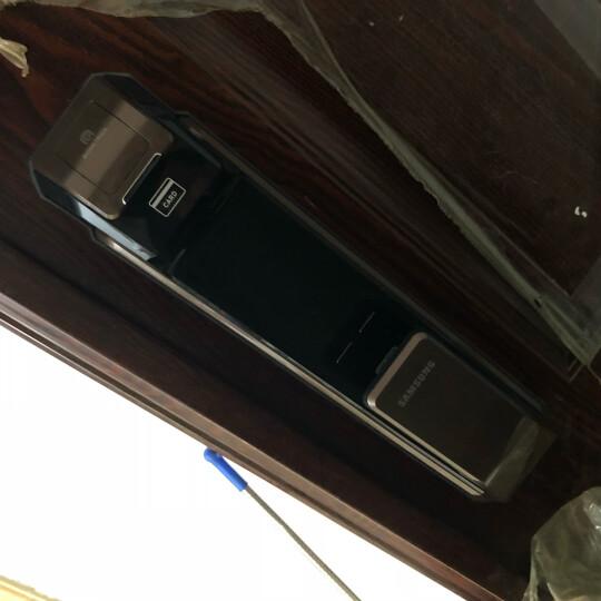 三星(SAMSUNG)指纹锁 家用防盗门密码磁卡锁 智能电子锁 SHS-P718 咖啡棕 外开 标配版 晒单图