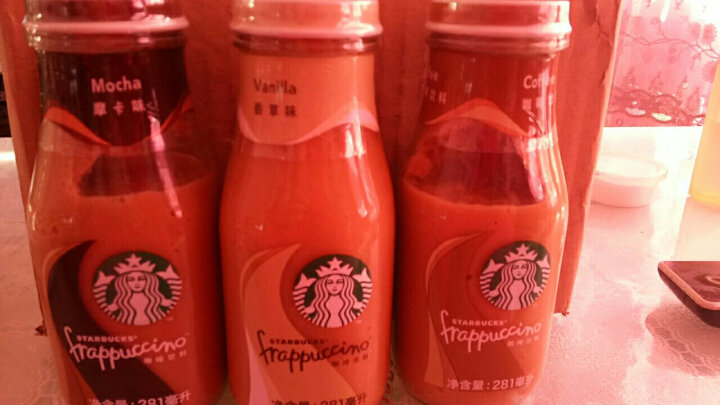 星巴克Starbucks星冰乐咖啡速溶摩卡香草原味白咖啡瓶装 巧克力热可可粉 原味3瓶+摩卡味3瓶 晒单图