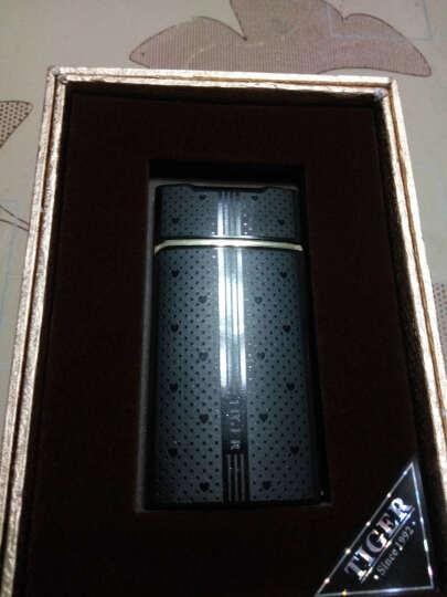 虎牌抖音同款指纹USB电子打火机充电个性送男友创意防风超薄定制 959黑(免费刻字) 晒单图