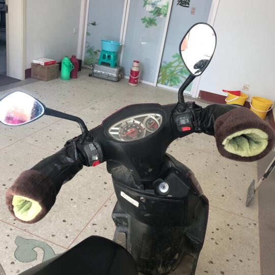 电瓶车手套摩托车冬季保暖男女式电动车手套自行车保暖冬天加绒手把套防风防寒不漏水通用 深棕色中号 晒单图