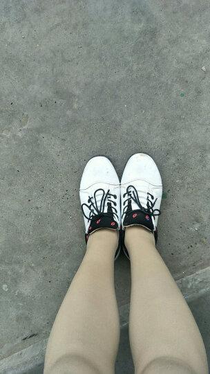 昂智女鞋春夏休闲鞋女韩版平底学生小白鞋厚底内增高网面镂空透气网鞋 9801白色 35 晒单图