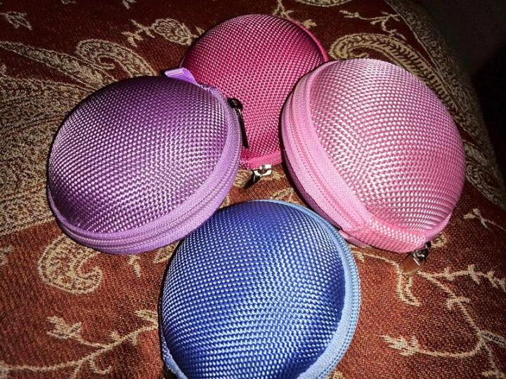 JIXINI纪希尼 便携耳机线收纳包防压耳机包耳机盒防震数据线充电器包零钱包数码配件保护包 神秘紫 晒单图