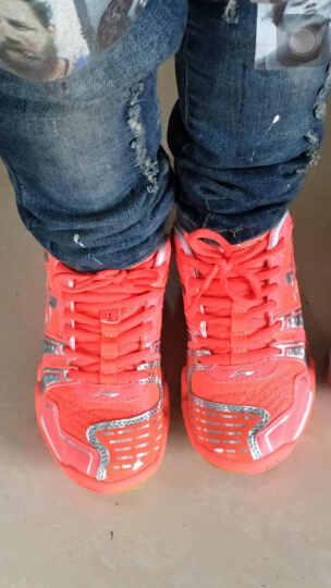 李宁(LI-NING)羽毛球鞋儿童青少年运动鞋童鞋AYTJ068清仓 -3荧光橙/银/白 33=210mm 晒单图