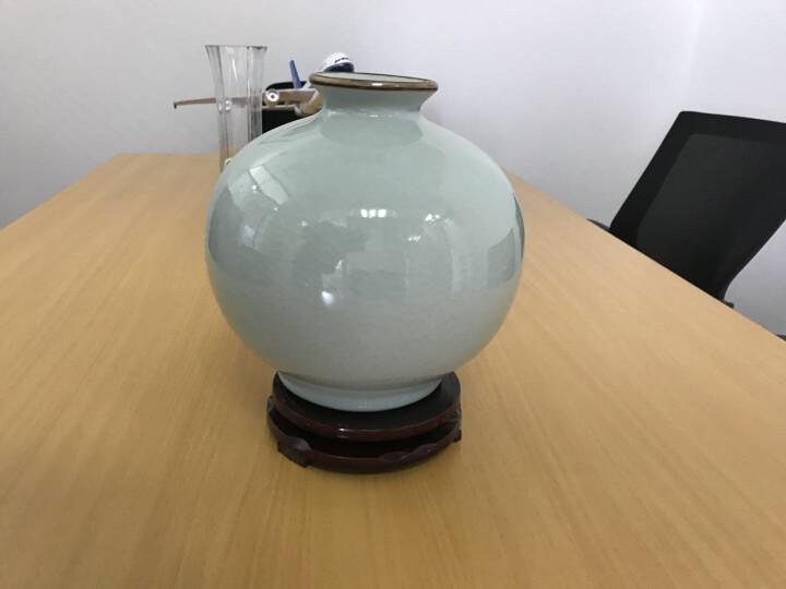 现代家居装饰摆设件 颜色釉冰裂纹影青花瓶景德镇陶瓷器 装饰摆件 晒单图