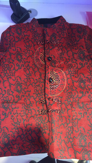 汝惜 奶奶装春装中老年女装外套2018老年人女装新款唐装60-70-80岁老太太服饰上衣 红色春款上衣 XL(建议90-110斤穿) 晒单图
