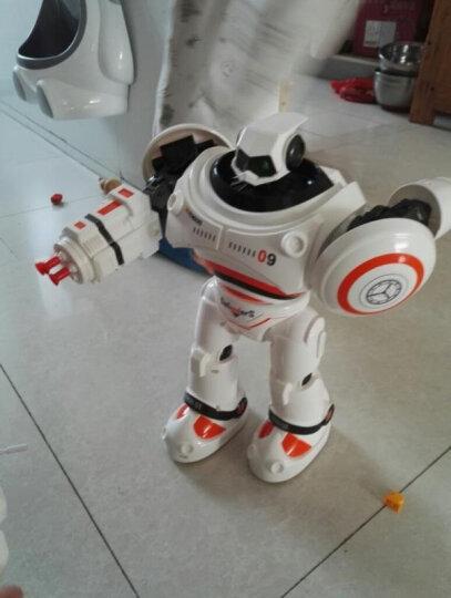遥控机器人 智能玩具可编程智能手势感应发射飞弹唱歌跳舞电动遥控机器人儿童玩具 【娱乐教学一体智能感应】凯迪威乐机器人白色 晒单图