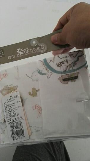 拉比(Labi Baby) 婴儿面巾方巾男女童宝宝纱布巾尺寸可选(2条装)动物世界 30x30cm方巾 晒单图
