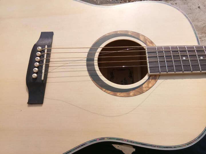 海之韵 吉它民谣吉他成人儿童木吉他电箱吉他练习电吉他初学者新手吉它41寸手工jita乐器1 =圆角吉他+全套赠品 晒单图