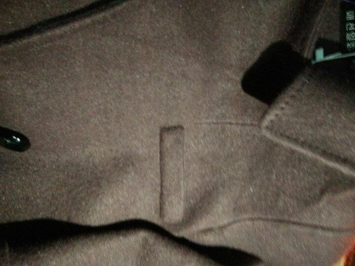 麦芭禾 格子毛呢大衣女2018秋冬装女新款时尚韩版学生毛呢外套女中长款呢子外套冬 焦糖色 M 晒单图