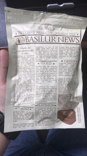 芭施勒(BASILUR)锡兰白金岛原味红茶 斯里兰卡原装进口 100g 晒单图
