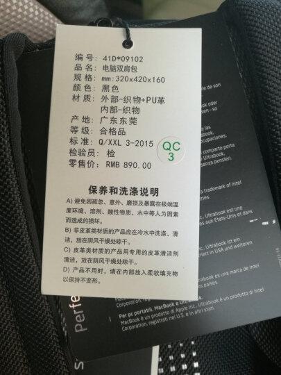 Samsonite/新秀丽电脑包14寸双肩包男多功能商务背包通勤包休闲差旅书包旅行包41D 黑色 晒单图