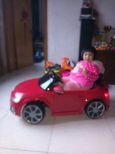 贝瑞佳(BeRica)奥迪儿童电动车四轮遥控可坐人婴幼儿童汽车独立摇摆小孩宝宝玩具 【双驱】红色+蓝牙遥控+音乐早教+360度摇摆 晒单图