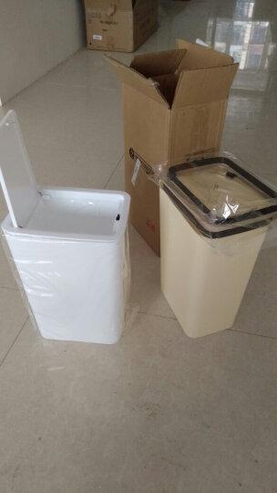 家杰 手按盖家用厨房塑料垃圾桶纸篓 卧室卫生间客厅垃圾筒 9L*2只装 JJ-GB101 晒单图