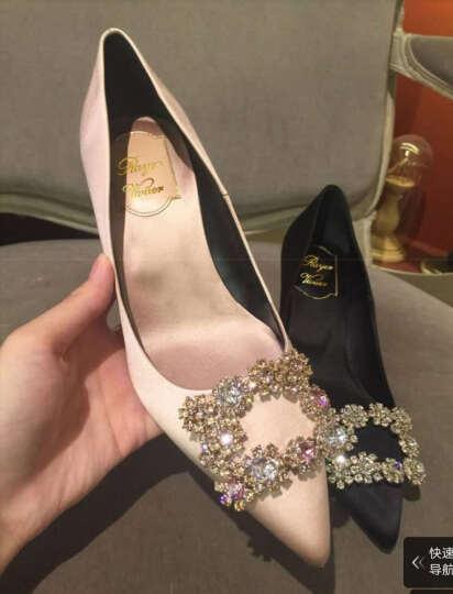zuoanxb 秀禾服婚鞋女2019新款结婚鞋子细跟婚纱鞋香槟色新娘鞋红色高跟鞋 Q 粉色(香槟)5cm 38 晒单图
