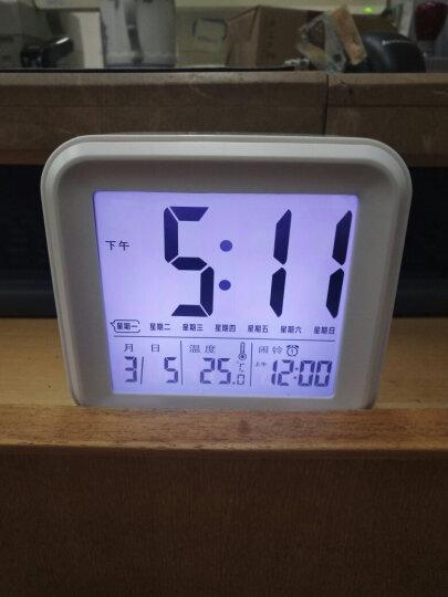 北极星(POLARIS) 钟表小闹钟夜光贪睡电子床头台钟表简约创意静音电子儿童闹钟工作日版闹表闹铃 6002工作日蓝加电源线 晒单图