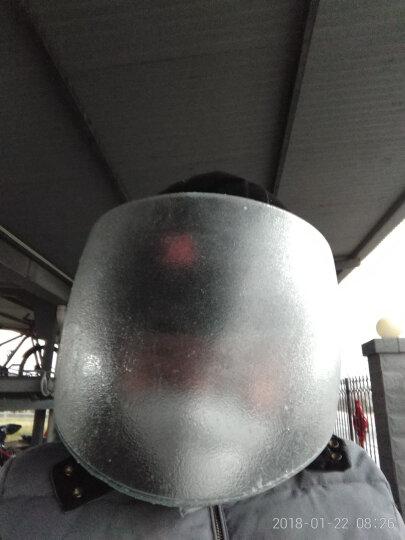 强尼电动摩托车头盔冬季男士电动车半覆式安全帽女士四季保暖多色半盔防雾护脖头盔 ZDK-376亮黑 晒单图