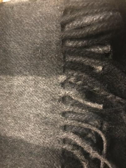 BURBERRY 巴宝莉 女士Mega 炭灰色格纹羊绒围巾 40310511 晒单图