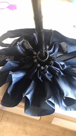 全自动雨伞 男士商务折叠伞大号双人三折成人男女自开自收晴雨伞黑胶太阳伞遮阳伞XfR37qdXu6 10骨大伞-蓝色 晒单图