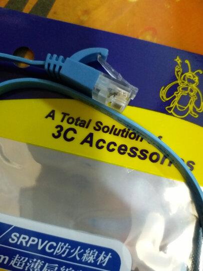 包尔星克 六类扁线 双绞千兆网络跳线电脑宽带网络连接线 成品网线 水蓝色 0.5米(PowerSync)C65B005FL 晒单图