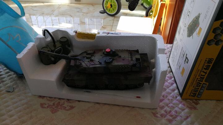 环奇3-6岁遥控坦克儿童玩具车电动车 亲子对战男孩遥控汽车玩具 38cm单只-无线遥控坦克516(军绿色) 晒单图