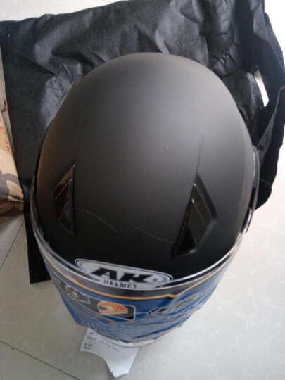 AK摩托车头盔男女电动车头盔电瓶车冬季保暖四季通用 亚黑 选原装透明防雾镜片 晒单图