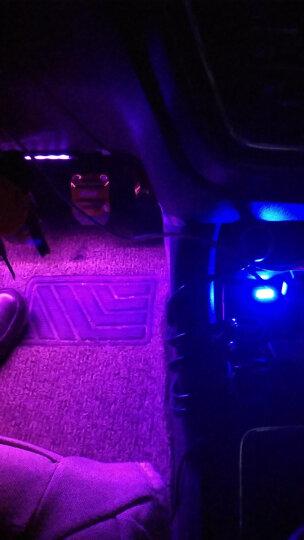 骏饰 汽车氛围灯 车内七彩LED内饰灯带 车载音乐声控气氛灯脚底灯免改装 18灯一拖四+七彩遥控+声控(USB头) 晒单图
