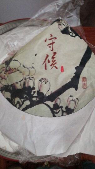 梓瑞 百年老树普洱茶 熟茶 饼茶 国画系列 守候 357克/饼 七子饼茶 2012年茶叶 纪念饼 晒单图