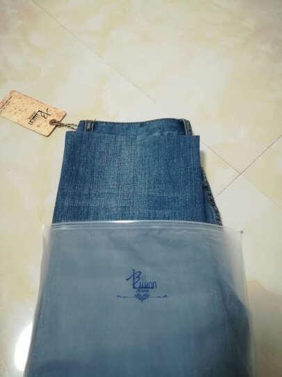 BILLION男装舒适直筒牛仔裤男宽松牛仔长裤子B12022 蓝黑纽扣款 28 晒单图