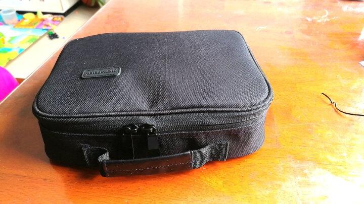 圣贝尔 旅行数码收纳包配件电源充电器整理包 耳机数据线收纳盒 硬盘包U盘袋 大号黑色 晒单图