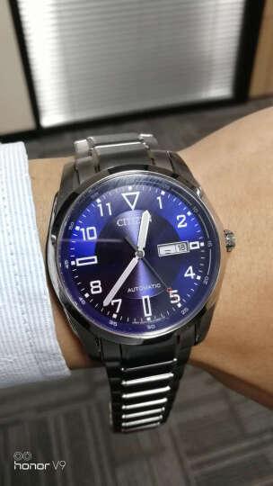 西铁城(CITIZEN)手表 自动机械蓝盘双日历时分针夜光男表NP4060-57LB 晒单图